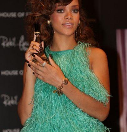Rihanna Promotes Rebl Fleur in London