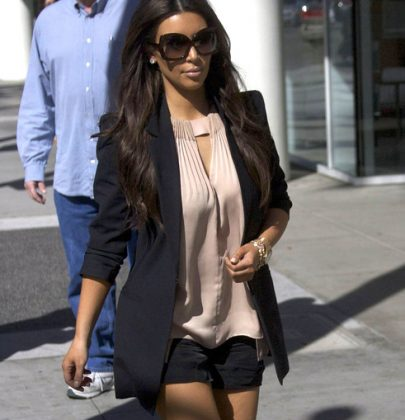 Get The Look: Kim Kardashian's Short Shorts and Giuseppe Sandals