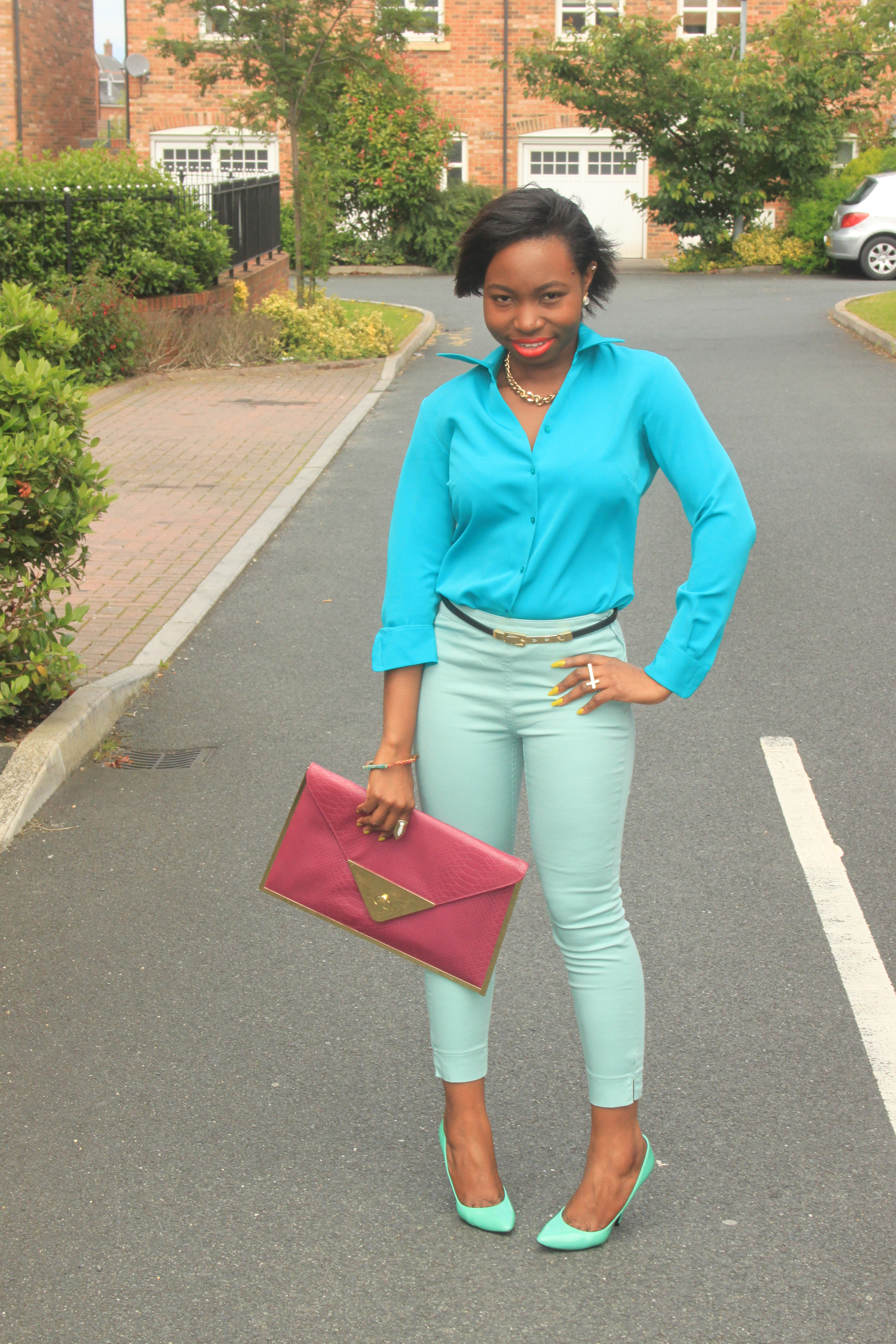 OOTD: Shades of Mint