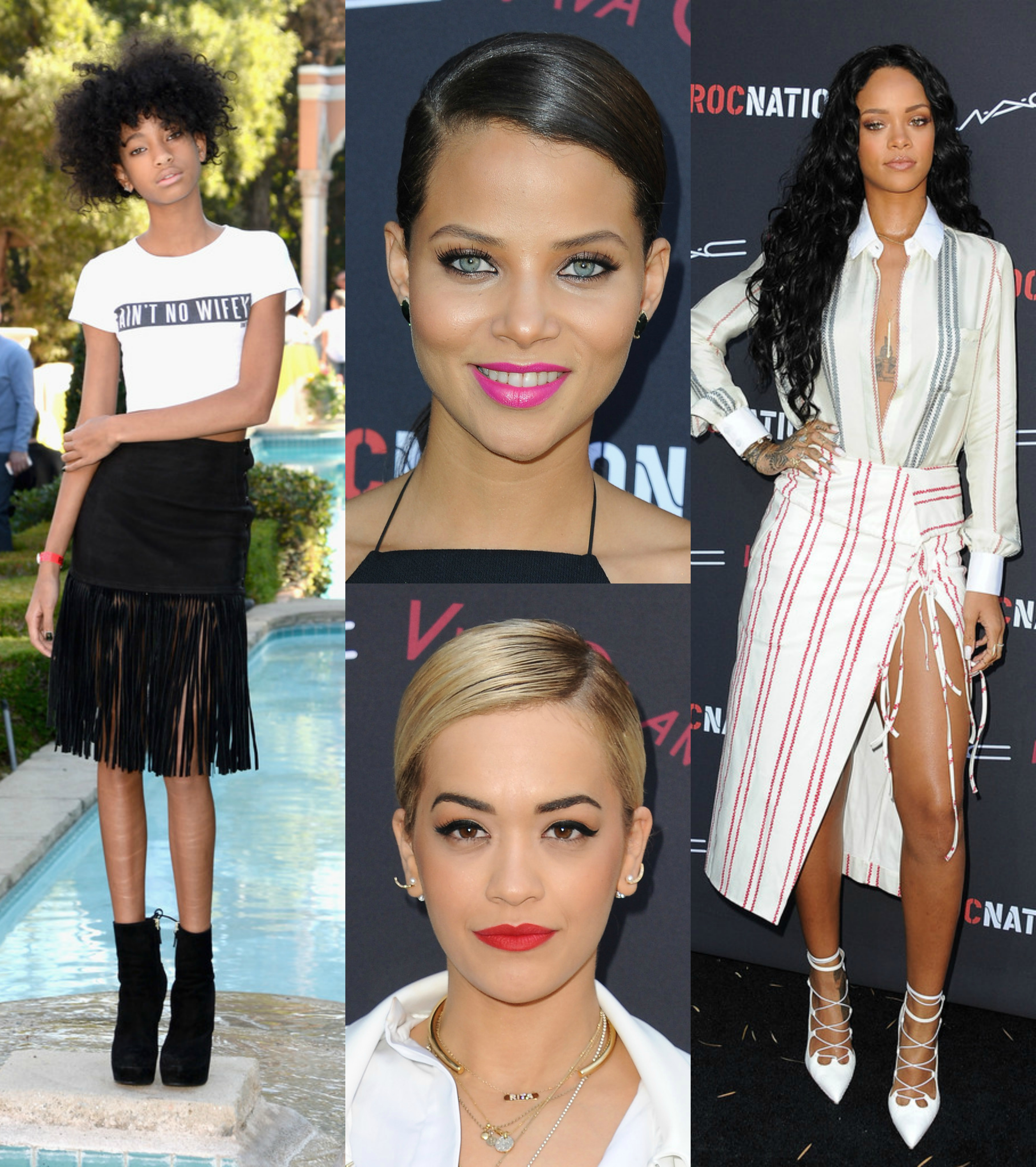 rita ora, rihanna, willow smith, denise vasi at the roc nation pre-grammy brunch 2014
