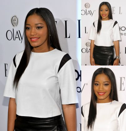 Hot or Not: Keke Palmer's White Bec & Bridge Crop Top and Leather Mini Skirt at ELLE's Annual Women in Television Celebration