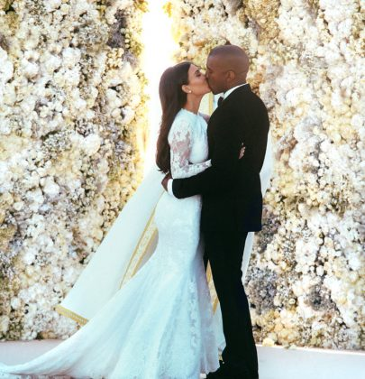 Kim Kardashian and Kanye West's First Wedding Photos