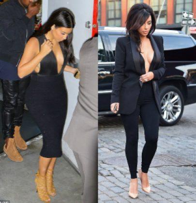 When Did She Style It Better: Kim Kardashian In Oh My Love Deep V Bodysuit