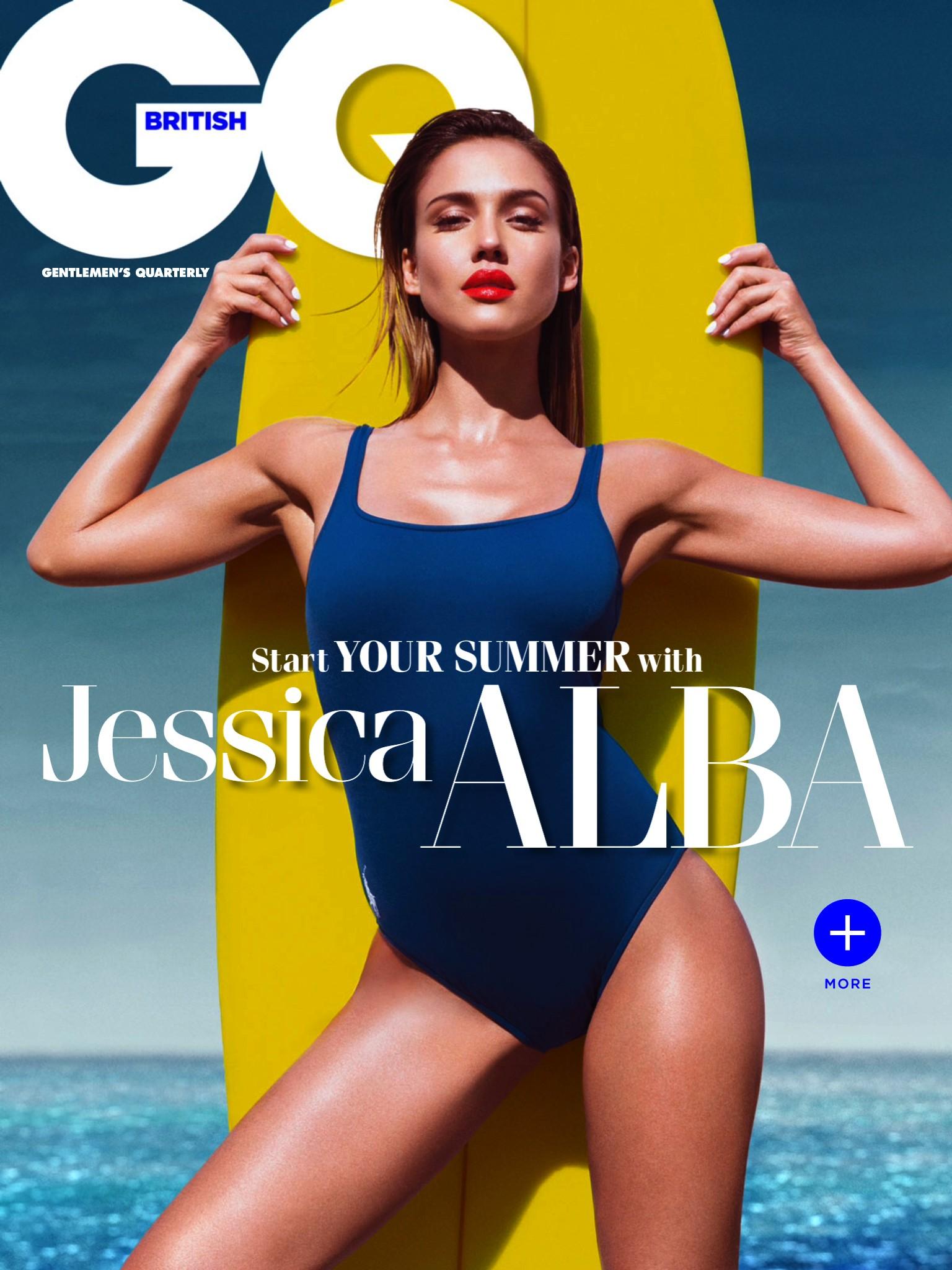 Editorial: Jessica Alba For GQ Magazine UK August 2014
