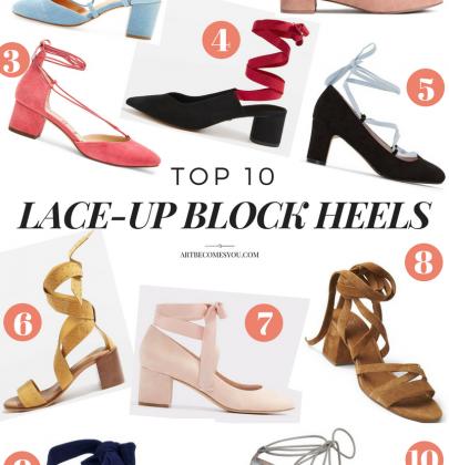 Top 10 Lace-Up Block Heels