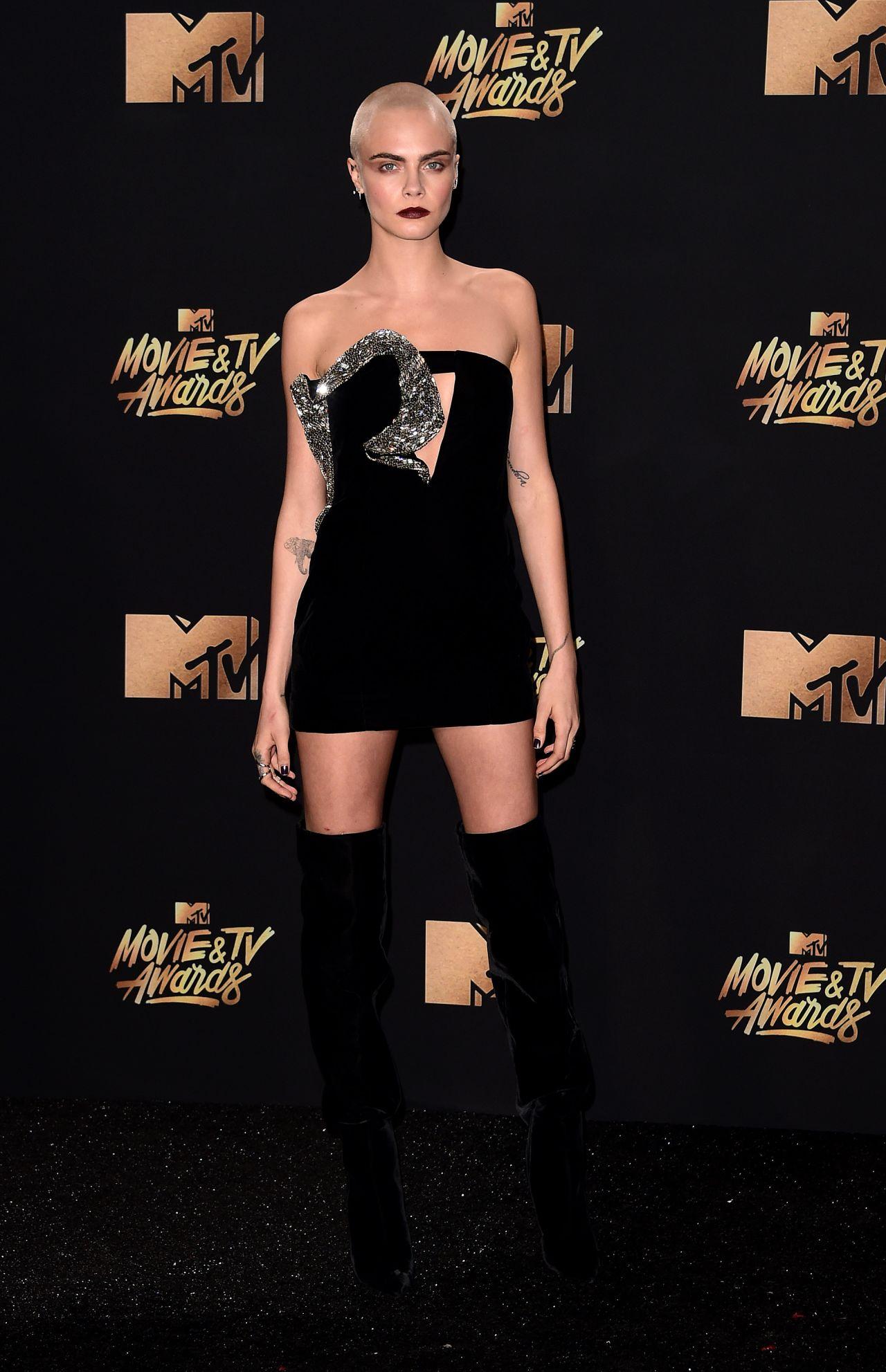 Cara Delevingne in Saint Laurent Fall 2017 – 2017 MTV Movie & TV Awards