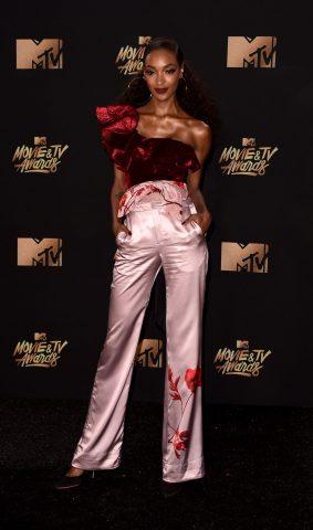 Jourdan Dunn in Johanna Ortiz Fall 2017 – 2017 MTV Movie & TV Awards
