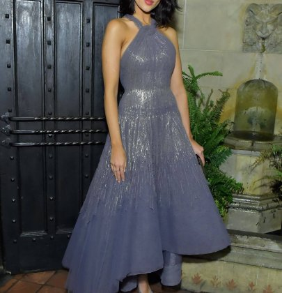 "Eiza Gonzalez in Rami Al Ali Fall 2016 Couture – Vanity Fair And Focus Features Celebrate The Film ""Phantom Thread"""