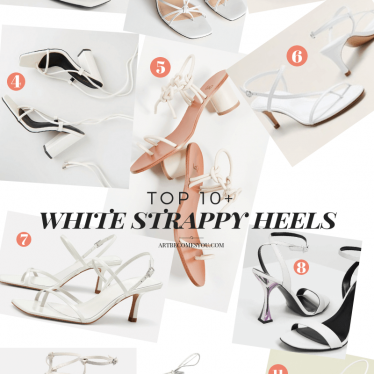Trend Check-In: Must Have White Strappy Heels
