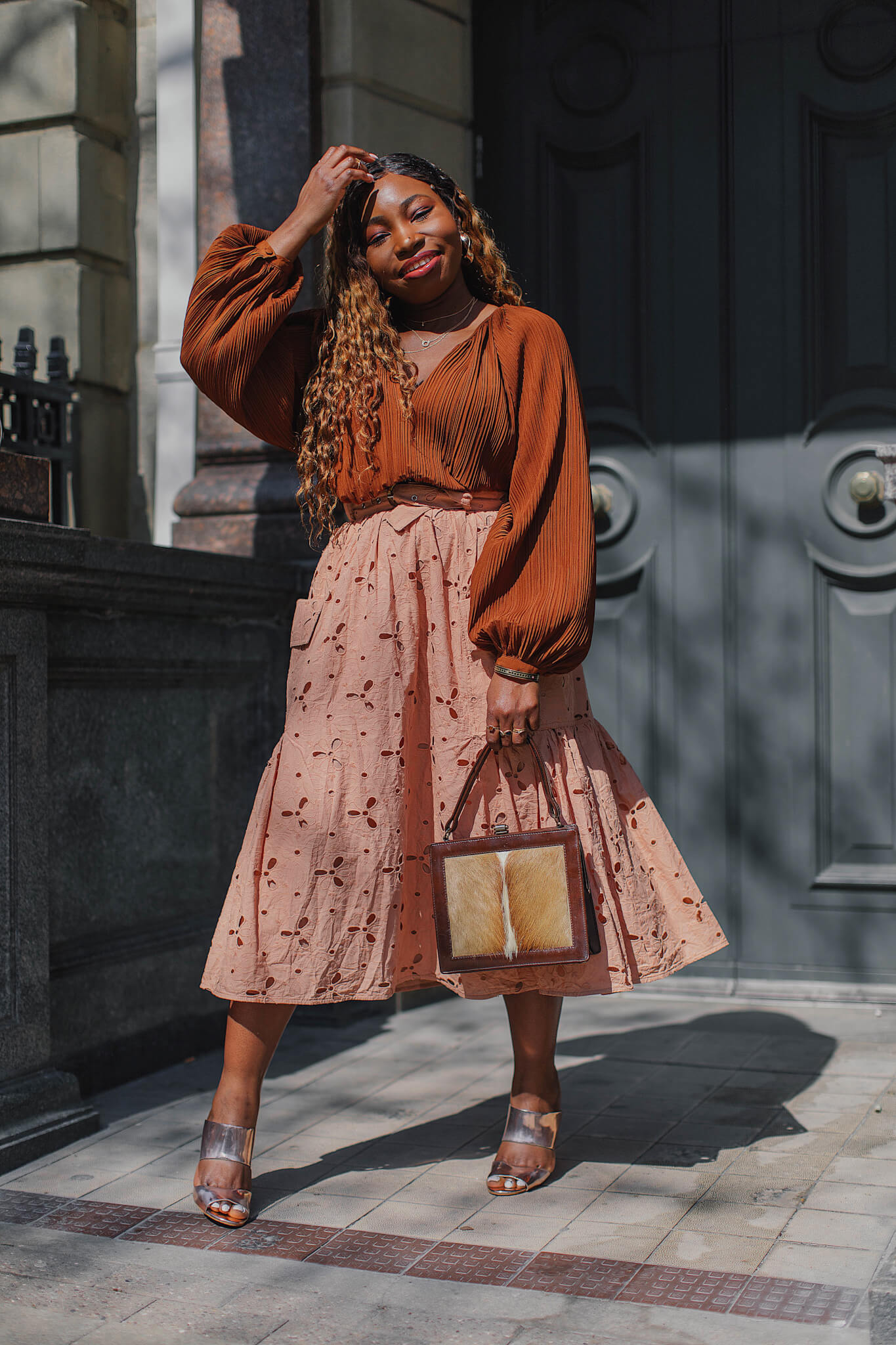 asos design cutwork midi skirt